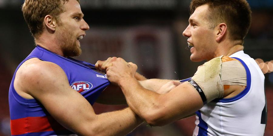 Kangaroos sunk by rampant Bulldogs in AFL