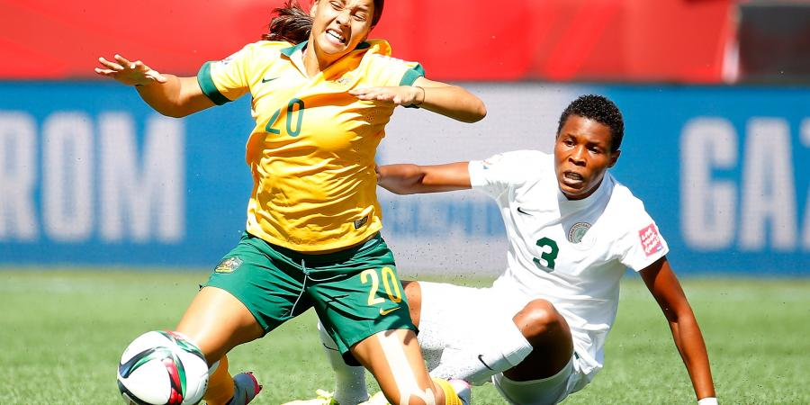 A disciplined Matilda�s backline clips the wings of the Nigerian Super Falcons