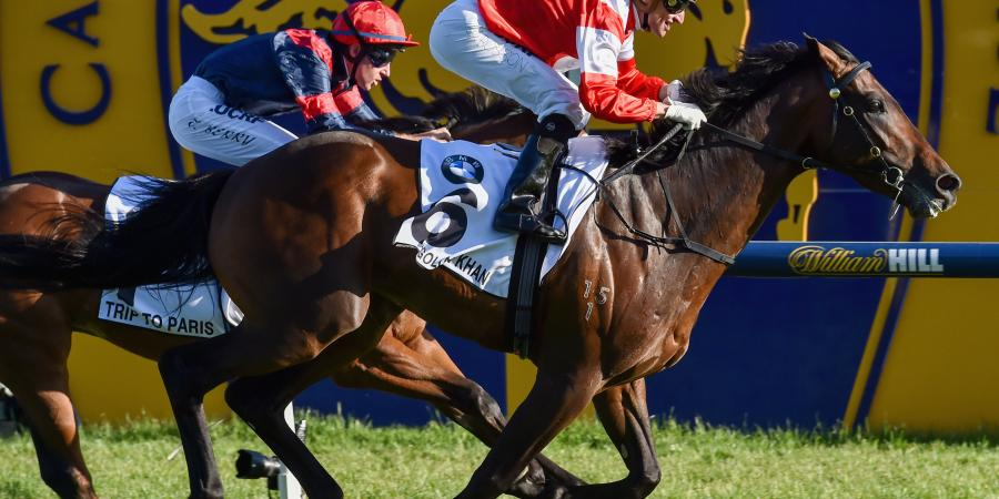 Mongolian Khan wins Caulfield Cup in style