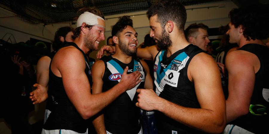 Port Adelaide thump Brisbane by 94