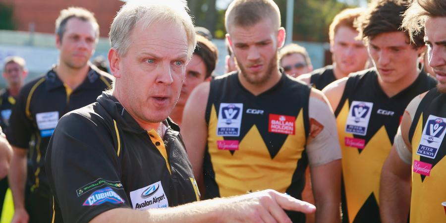 VFL coach gives bizarre quarter time speech