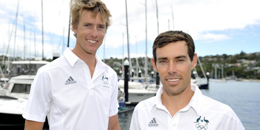 Australia's 470 crew in silver position