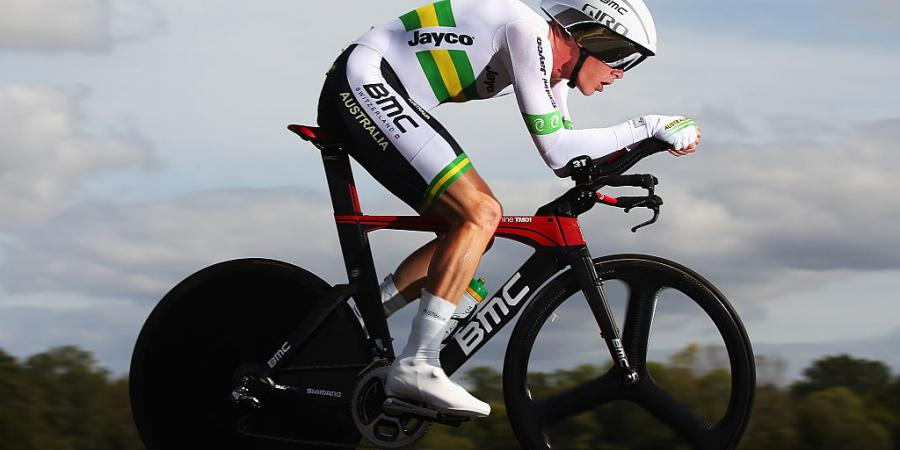 Rohan Dennis wins cycling time trial title