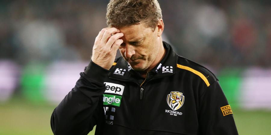 Richmond coach gives up on AFL finals
