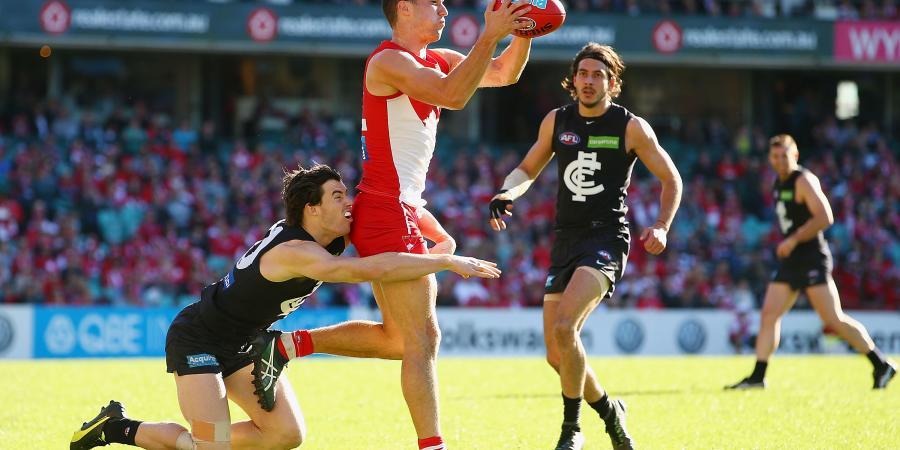 Swans hang on to beat Carlton