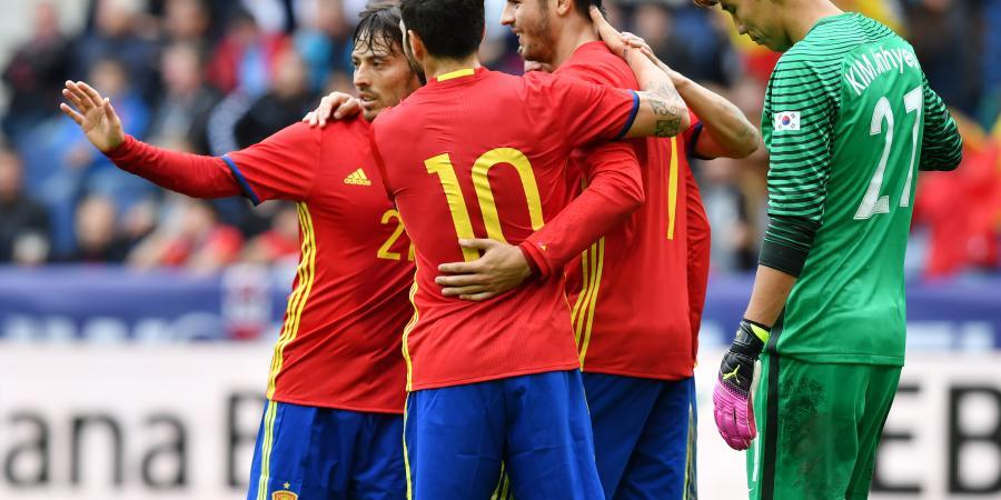 Spain hammer South Korea in friendly