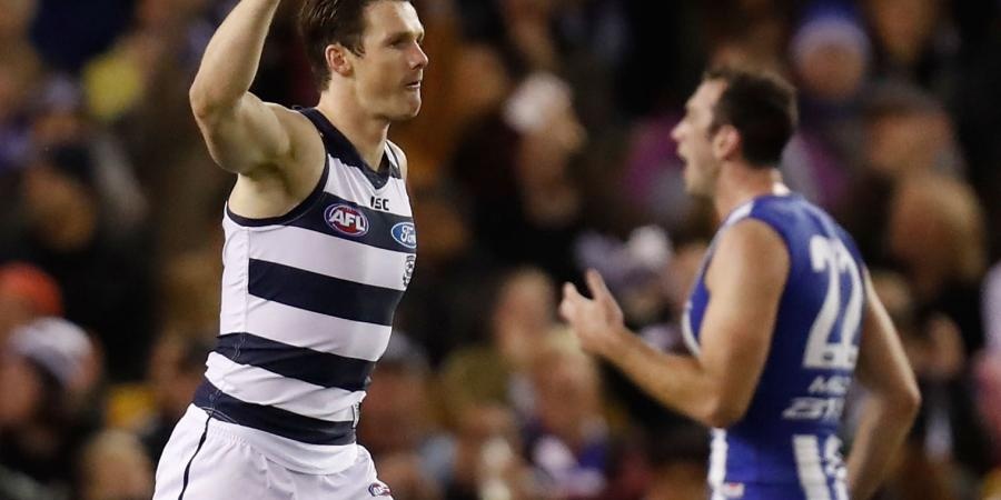 Dangerfield stars in big Cats AFL win
