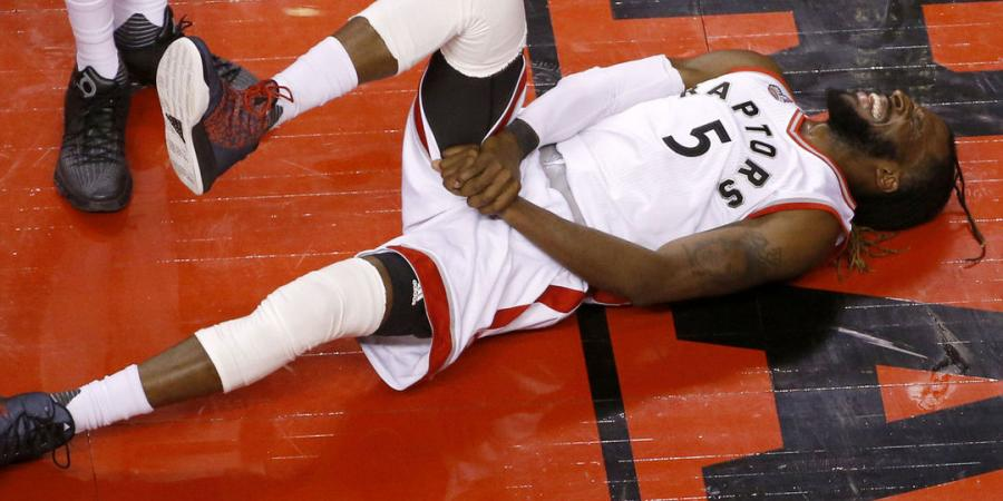 Raptors' Carroll knocked out of Game 5 vs. Heat
