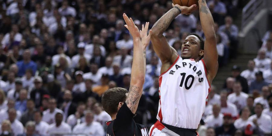 DeRozan ties playoff career high with 34, Raps a win from advancing - The Associated Press