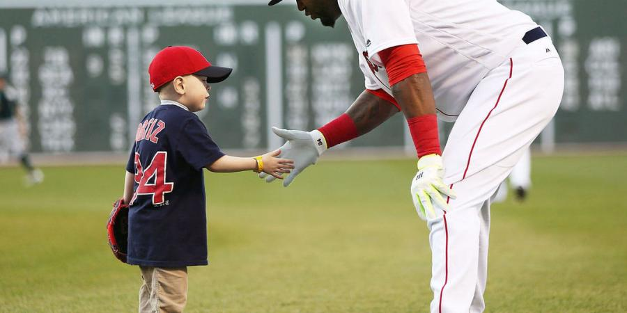 Watch: Maverick Schutte throws 1st pitch to Ortiz