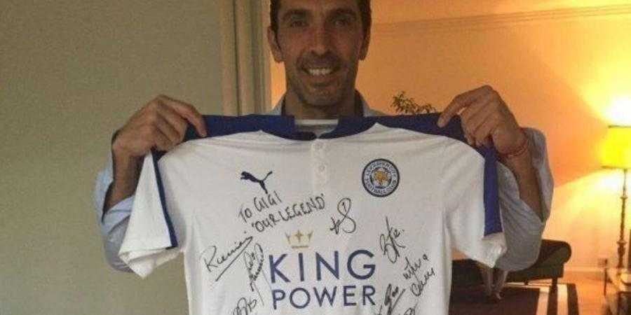 Gianluigi Buffon flaunts signed Leicester City shirt