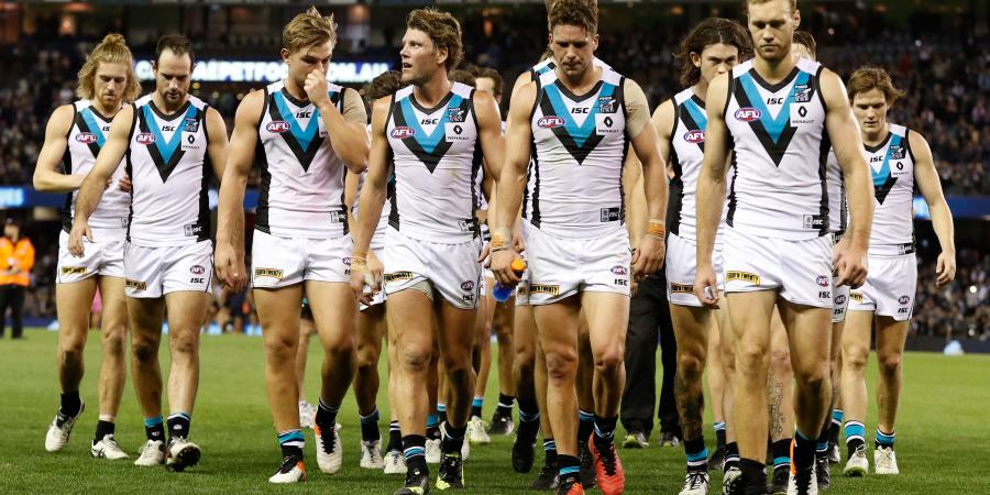 Champion Data stats show Port Adelaide's deplorable ball use