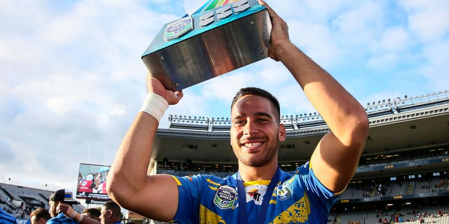 Eels teammates standing by Norman