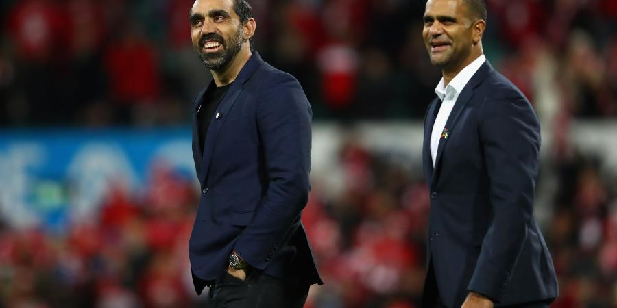 Goodes jokes about spear dance a year on