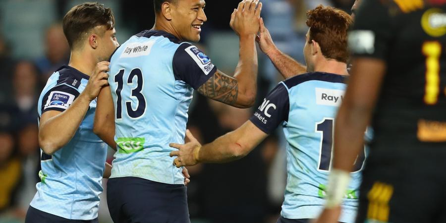 Waratahs down Super Rugby-leading Chiefs