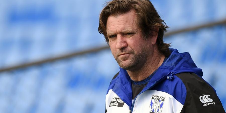 Des Hasler under review at Canterbury
