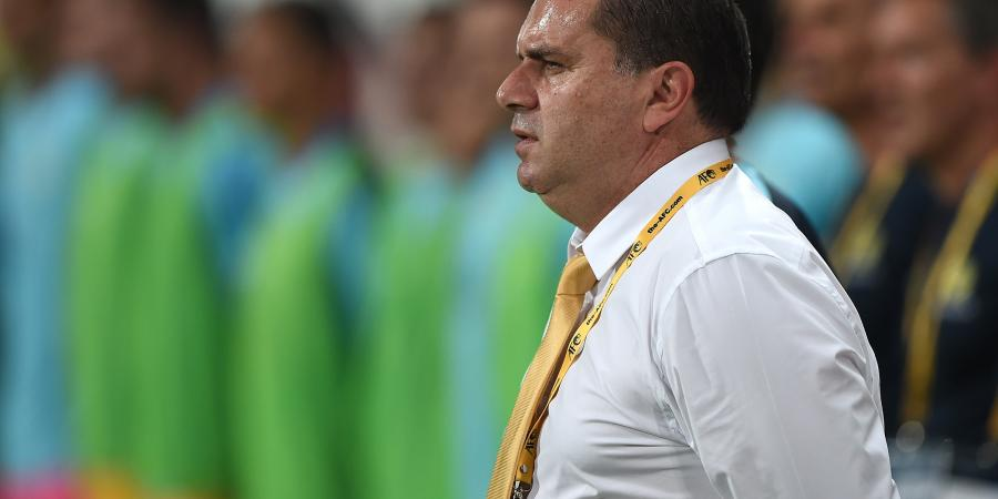 Sweatstains show the Socceroos' hard work