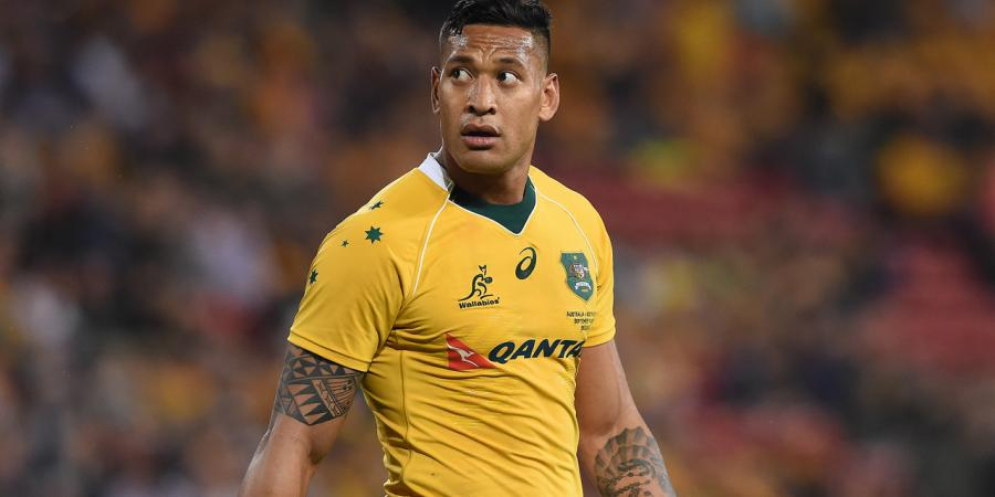 Israel Folau riding GWS wave