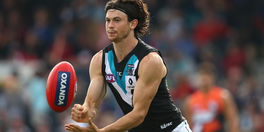 Port's Pittard hurt in AFL loss to Tigers