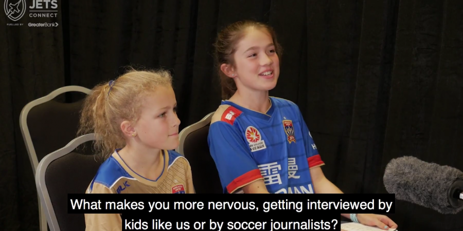 Kids interview Newcastle Jets and it's hilarious
